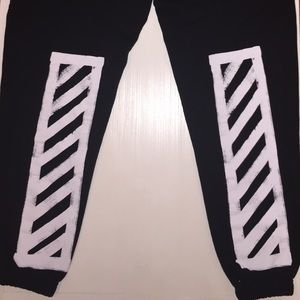 7085eea6cd76 Off-White Pants - Off-White AW16 Brushed Diagonals Sweatpants